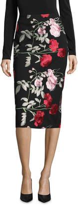 5twelve Floral Embroidered Midi Pencil Skirt