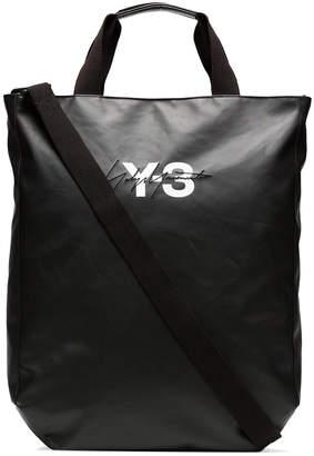 Y-3 black logo tote bag