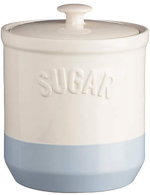 Mason Cash Bakewell Sugar Jar, Cream/Blue