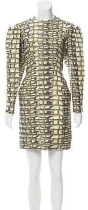 Maison Rabih Kayrouz Printed Wool Dress w/ Tags