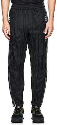 adidas by Alexander Wang Men's Crinkled Tech-Fabric Tear-Away Track Pants - Black