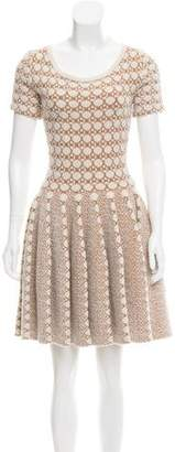 Alaia Fit and Flare Jacquard Dress