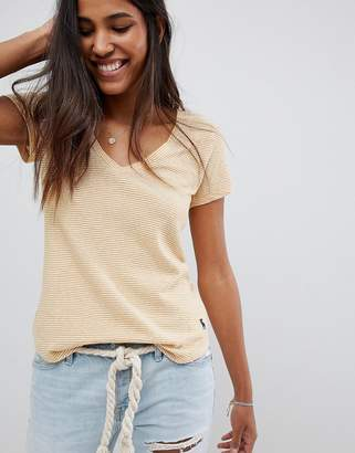 Abercrombie & Fitch v-neck t-shirt in stripe