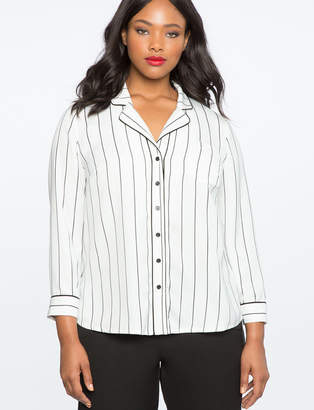 ELOQUII Contrast Pajama Top