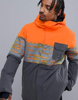 Billabong Tribong Snow Jacket in Orange