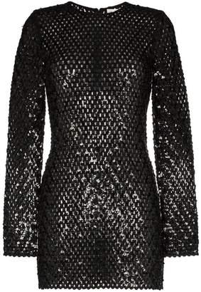 Saint Laurent sequin embellished knitted mini dress