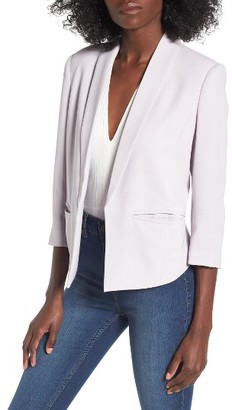 Women's Mural 'Curve' Open Front Shawl Collar Blazer $74 thestylecure.com