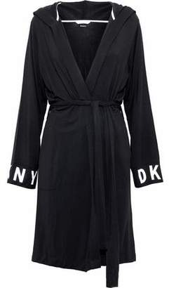 COM · DKNY Printed Stretch-Modal Hooded Robe ea2e6c227
