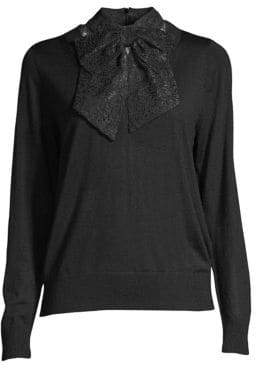 Sandro Lace Bow Sweater