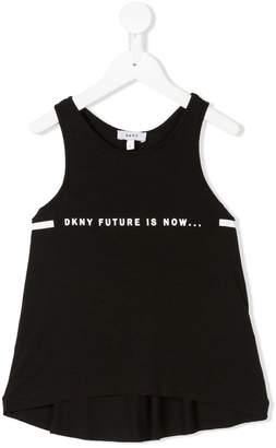 DKNY logo print top