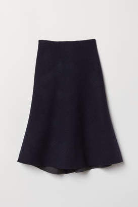H&M Knee-length Wool Skirt - Blue