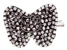 Hello Kitty - Hello Kitty Hematite Beaded Bow Hair Clip