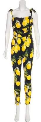 Dolce & Gabbana Silk Print Jumpsuit w/ Tags