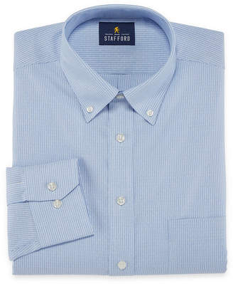 STAFFORD Stafford Executive Non-Iron Cotton Pinpoint Oxford Long Sleeve Dress Shirt