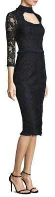 Alexis Florenza Cutout Lace Sheath Dress
