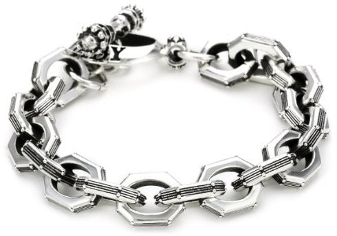 "King Baby ""Industrial Romance"" Men's Octo Rivet Link Bracelet"