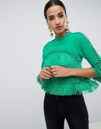 AX Paris crop frill blouse