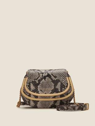 Donna Karan Donnakaran Snake-Embossed Leather Crossbody Black Unsized Item