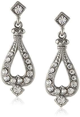 Downton Abbey Silver-Tone Teardrop Earrings