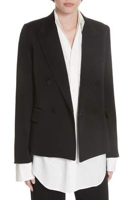 Vince Double Breasted Tuxedo Jacket