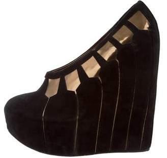 Dolce & Gabbana Suede Platform Wedges