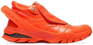 Calvin Klein fluorescent orange Cander 7 leather sneakers