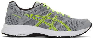 Asics Grey and Green Gel-Contend 5 Sneakers