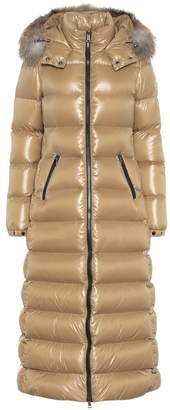 Moncler Hudson fur-trimmed down coat