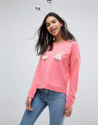 Only Sequined Baubles Holidays Sweatshirt