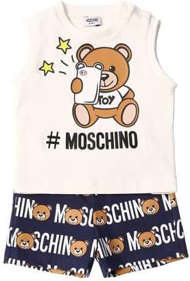 Moschino Printed Cotton Jersey T-Shirt & Shorts