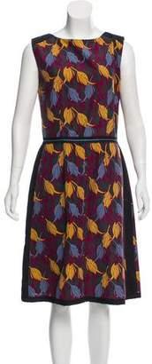 Sophie Theallet Silk-Blend Floral Sheath Dress w/ Tags