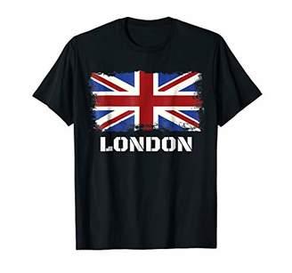 Souvenir London T-shirt City Vintage UK Flag British Tee