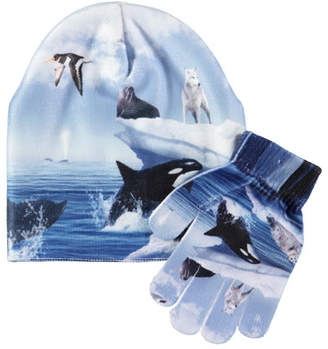 Molo Kaya Arctic Landscape Hat & Gloves Set