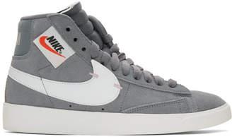 Nike Grey Blazer Mid Rebel Sneakers