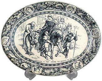 One Kings Lane Vintage 19th-C. Wedgwood Ivanhoe Platter