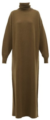 Extreme Cashmere - No.119 Protection Stretch Cashmere Sweater Dress - Womens - Dark Khaki