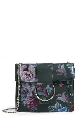 Leith Metal Ring Faux Leather Crossbody Bag