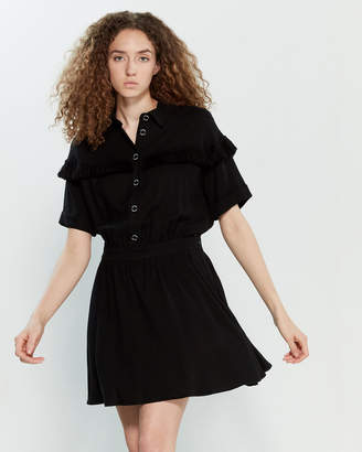 Love Moschino Button Front Fit & Flare Dress