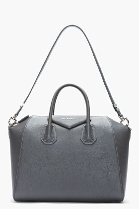 Givenchy Grey textured leather Antigona duffle
