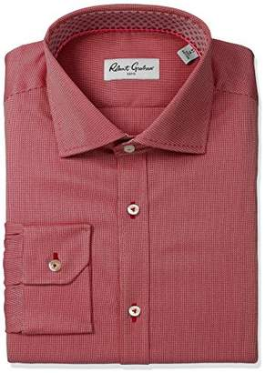 Robert Graham Men's Classic Fit Textured Solid Dress Shirt