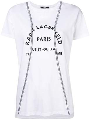 Karl Lagerfeld distorted address T-shirt