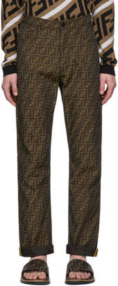 Fendi Brown All Over Forever Trousers