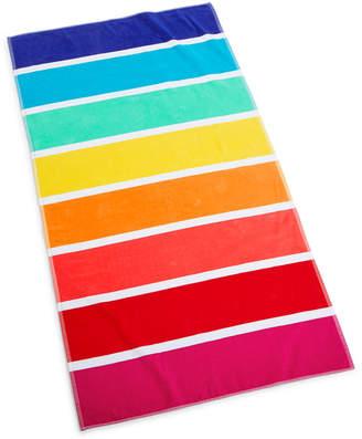 "Martha Stewart Collection Rainbow Stripe 38"" x 68"" Beach Towel"