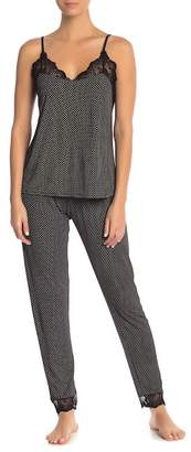 Eberjey Foulard Printed Lace Hem Pajama Pants