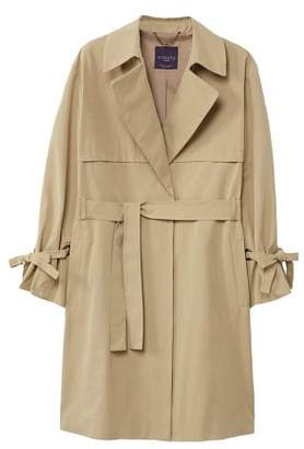 Violeta BY MANGO Pleated sleeve trench
