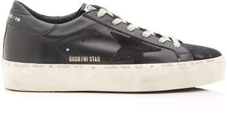 Golden Goose Hi Star Platform Leather And Suede Sneakers Size: 36