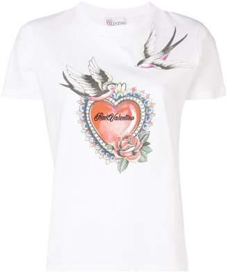 0f476c0a RED Valentino logo heart print T-shirt