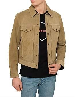 Rag & Bone Suede Trucker Jacket