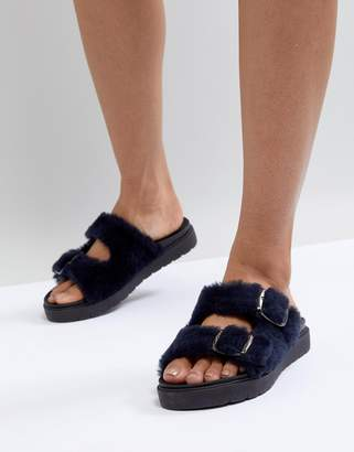Carvela Krumble Shearling Sliders