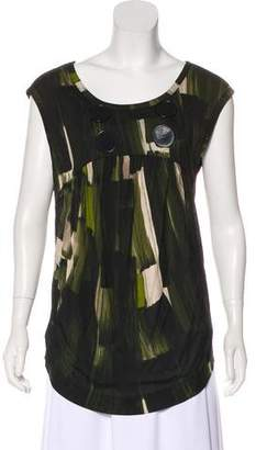 Paul Smith Sleeveless Button-Accented Top
